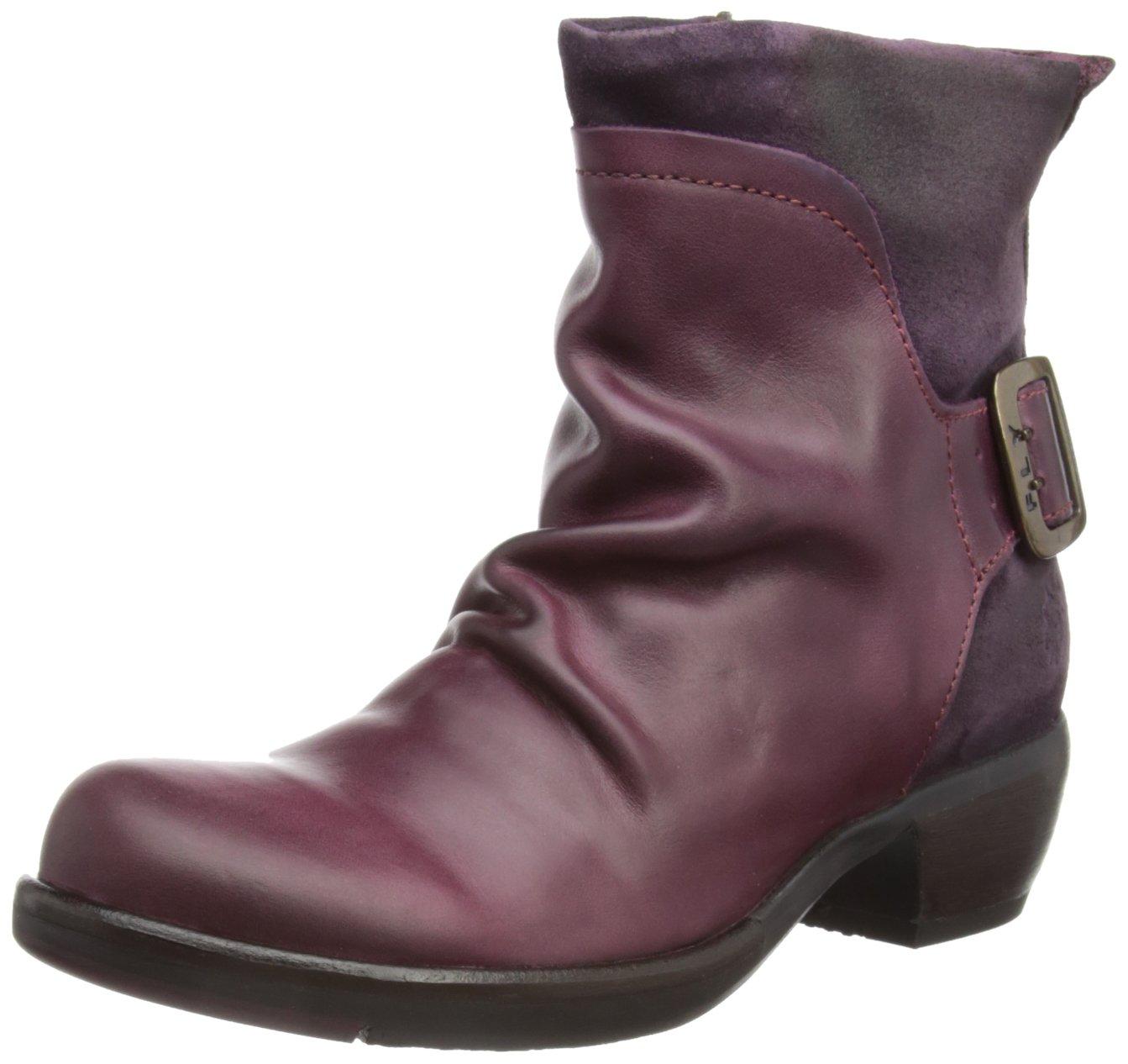 Fly London Mel, Botas Camperas para Mujer Turquesa (Violett 008)