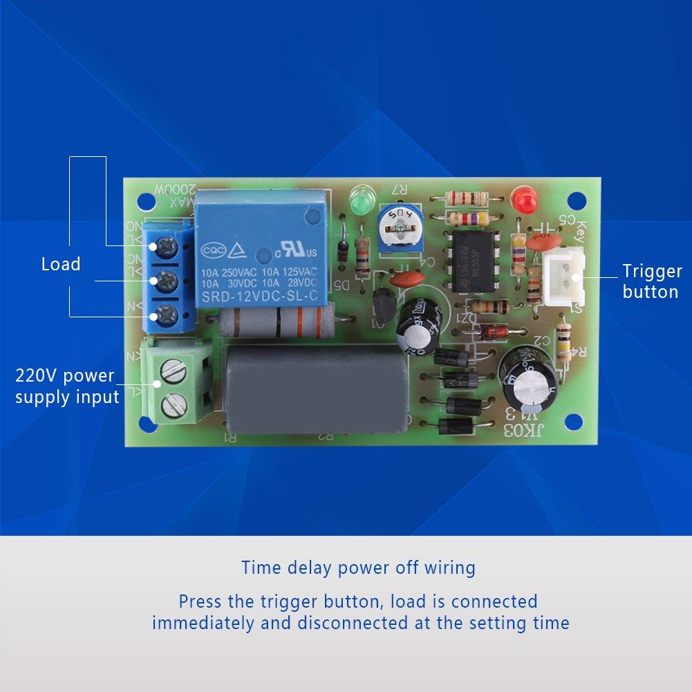 Amazon com: AC 220V Timer Delay Switch Module Input/Output Turn Off
