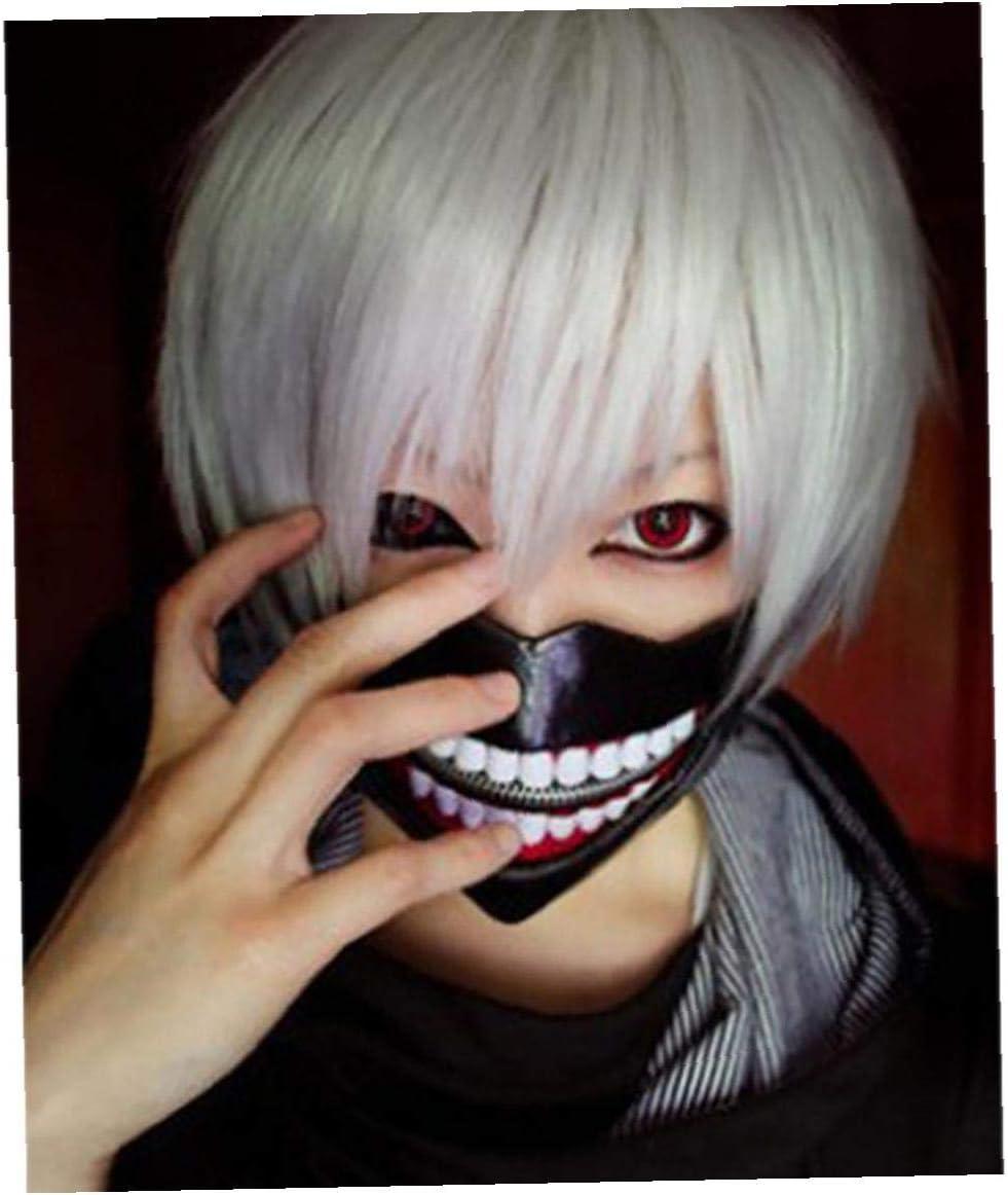 nero Maschera 1set 3d Tokyo Ghoul Kaneki Ken Cosplay Con Benda Partito Freddo Mascherina Di Halloween Costume Decorazioni Di Partito Puntelli Per Uomo E Donna
