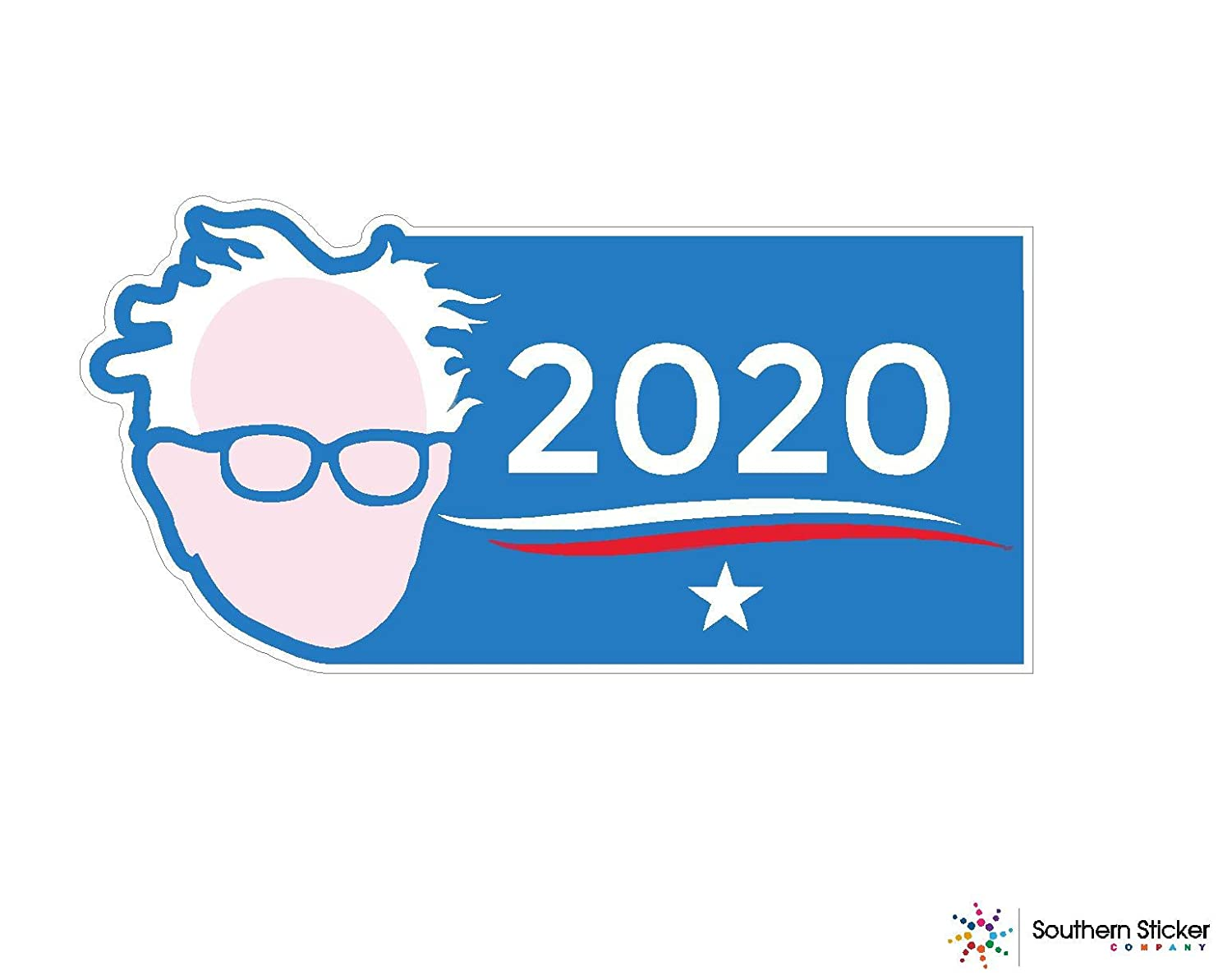 Bernie sanders 2020 face 3x1 size inches each order comes with 3 stickers bumper sticker president election trump politics voting love baby laptop car