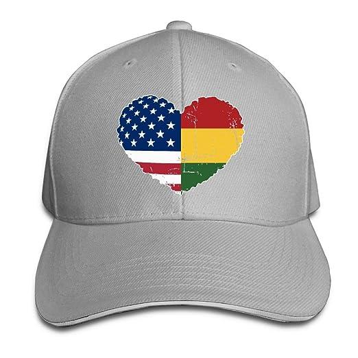 Youbah-01 Women s Men s Rasta USA Flag Heart Adult Adjustable ... 853e7de425