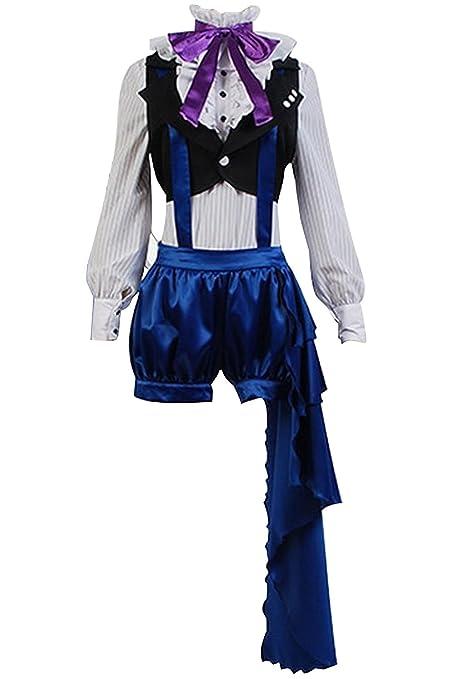 ab8e9a077 UU-Style Black Butler Kuroshitsuji 3 Earl Ciel Phantomhive Uniform Dress  Cosplay Costume (Blue