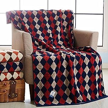 Zyzx Baumwolle Aus Schwamm Englisch Plaid Bettwäsche Handtücher