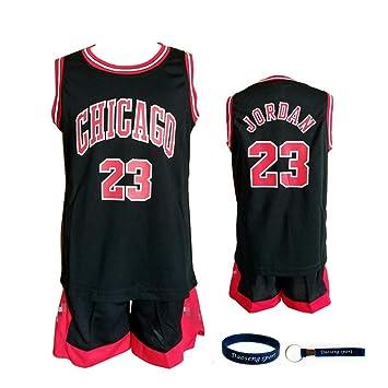 wholesale dealer 27f0d 5aa2c Daoseng Enfant garçon NBA Michael Jordan   23 Chicago Bulls Short de Basket-Ball  Retro
