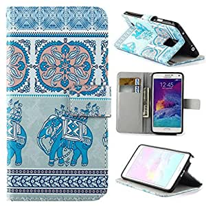 Note 4 Case,Galaxy Note 4 Case,Galaxy Note 4 Leather Case,Note 4 leather wallet case,Galaxy Note 4 case-Creativecase case for Note 4, new beautiful Colorful(Wallet) PU Leather note 4 leather Case with Flip ID card case Cover for Samsung Galaxy Note 4