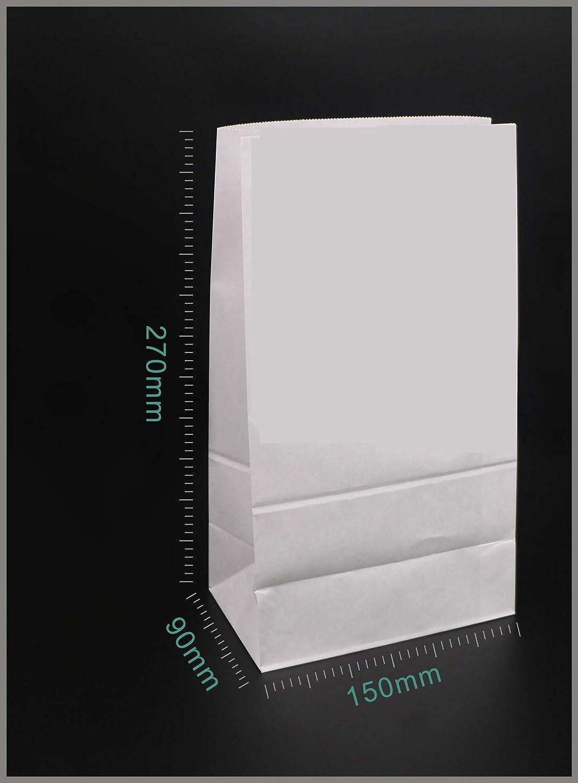 Brot Snacks etc. S/ü/ßigkeiten Braun, 9x5x18cm EXQUILEG 30xPapiert/üten Papier-Beutel Kraftpapier T/üten mit Boden Geschenkt/üten f/ür Geschenke