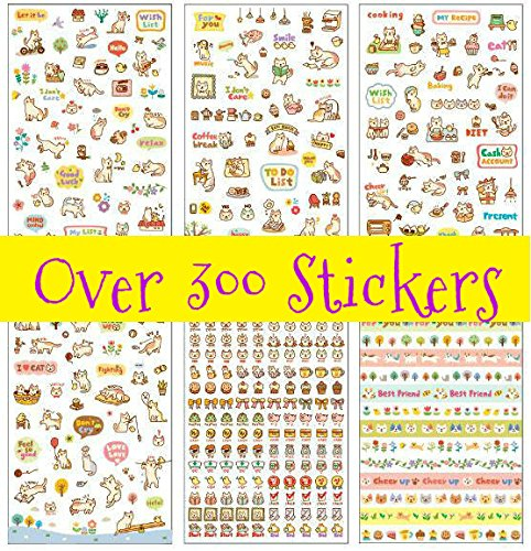 Lovely Cat Kitten Kitty Stickers (Over 300 Stickers)