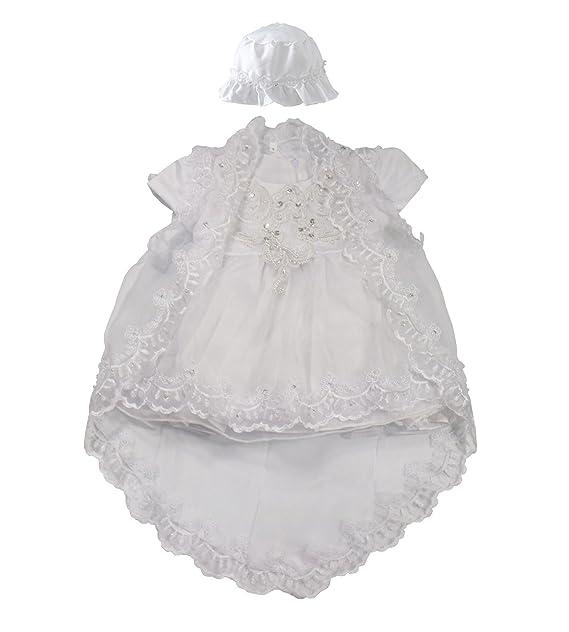 BabyPreg Niñas bebés Bautizo Vestido de bautismo Cumplea?os Vestido de Fiesta poliéster algodón: Amazon.es: Ropa y accesorios