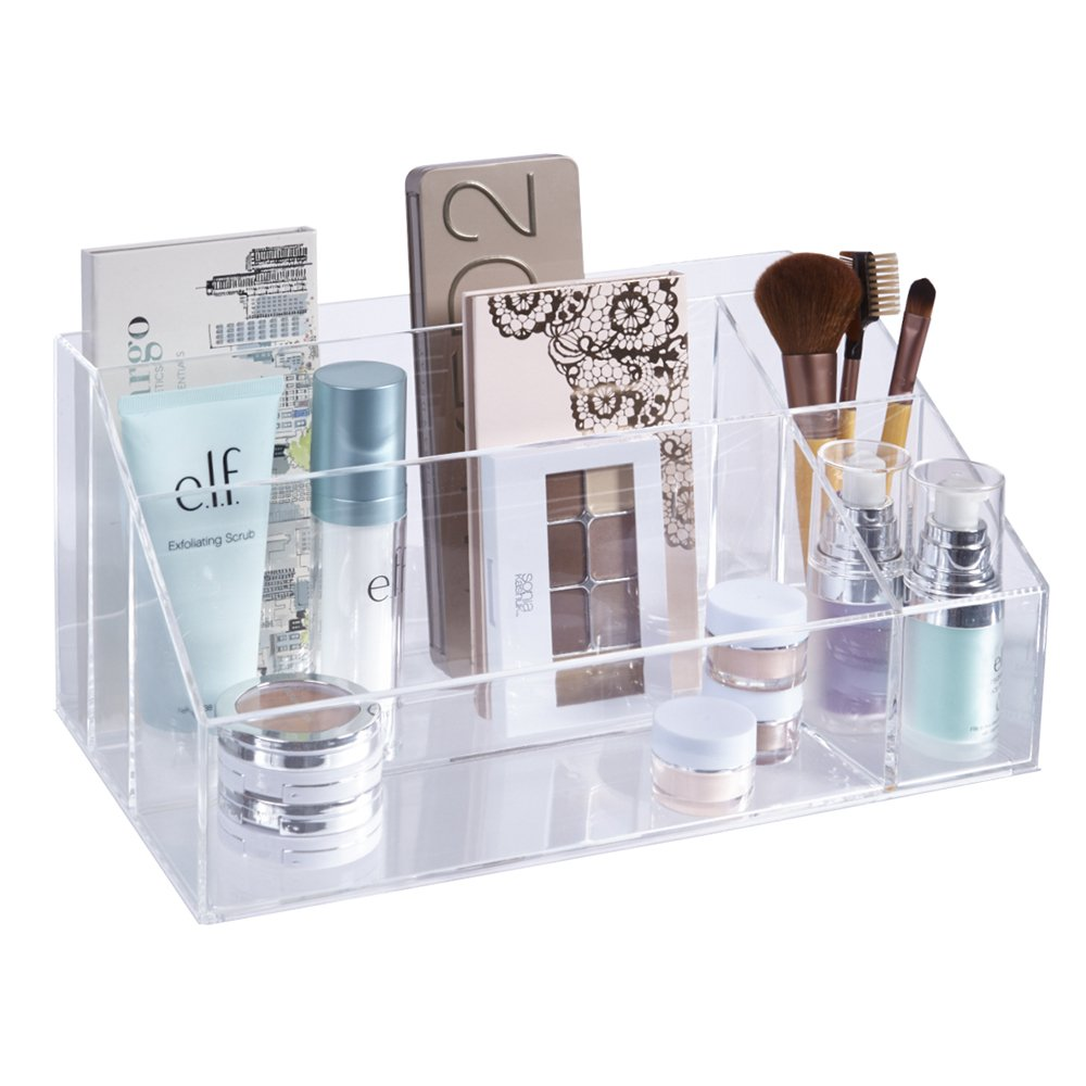 STORi Premium Quality Clear Plastic Makeup Palette and Brush Holder