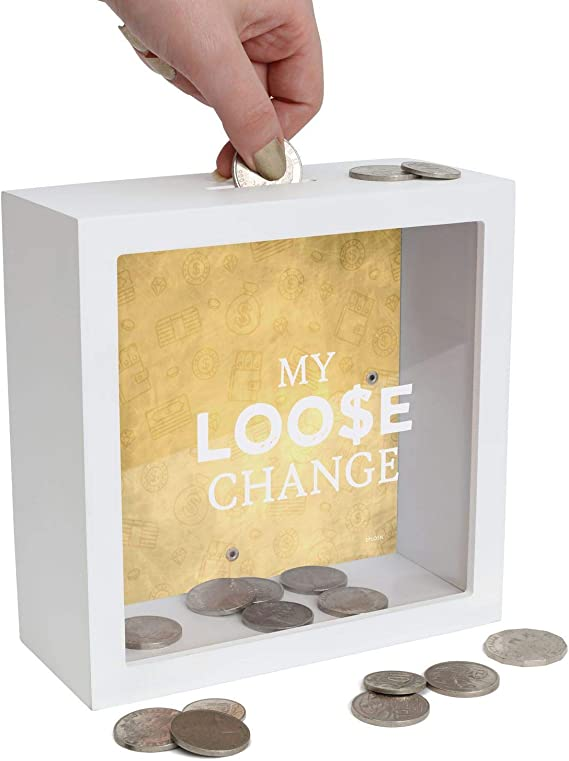 Splosh Change Box My Loose Change Money Saving Box Amazon Co Uk Diy Tools
