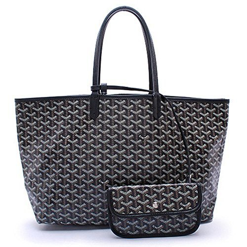 CharlestonDe Lady Tote PU Leather Shoulder Bag Set (GM Size, Black) by CharlestonDe (Image #1)