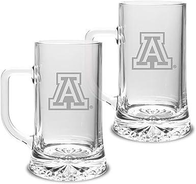 Set of 2 University Glass NCAA unisex Collegiate 17.5 oz Maxim Mug