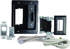 Legrand, Home Office & Theater, In Wall TV Power Kit, Black, 6ft Length, HT22U2BKR6