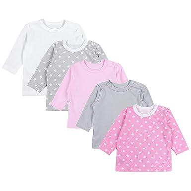 1237fc961602ea TupTam Baby Mädchen Langarmshirt Sterne 5er Pack  Amazon.de  Bekleidung