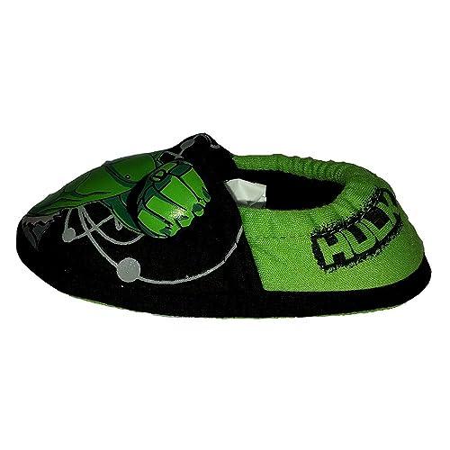 Avengers Hulk - Zapatillas de Estar por casa de Otros para niño Negro Verde, Color Negro, Talla 23.5 EU Niño: Amazon.es: Zapatos y complementos