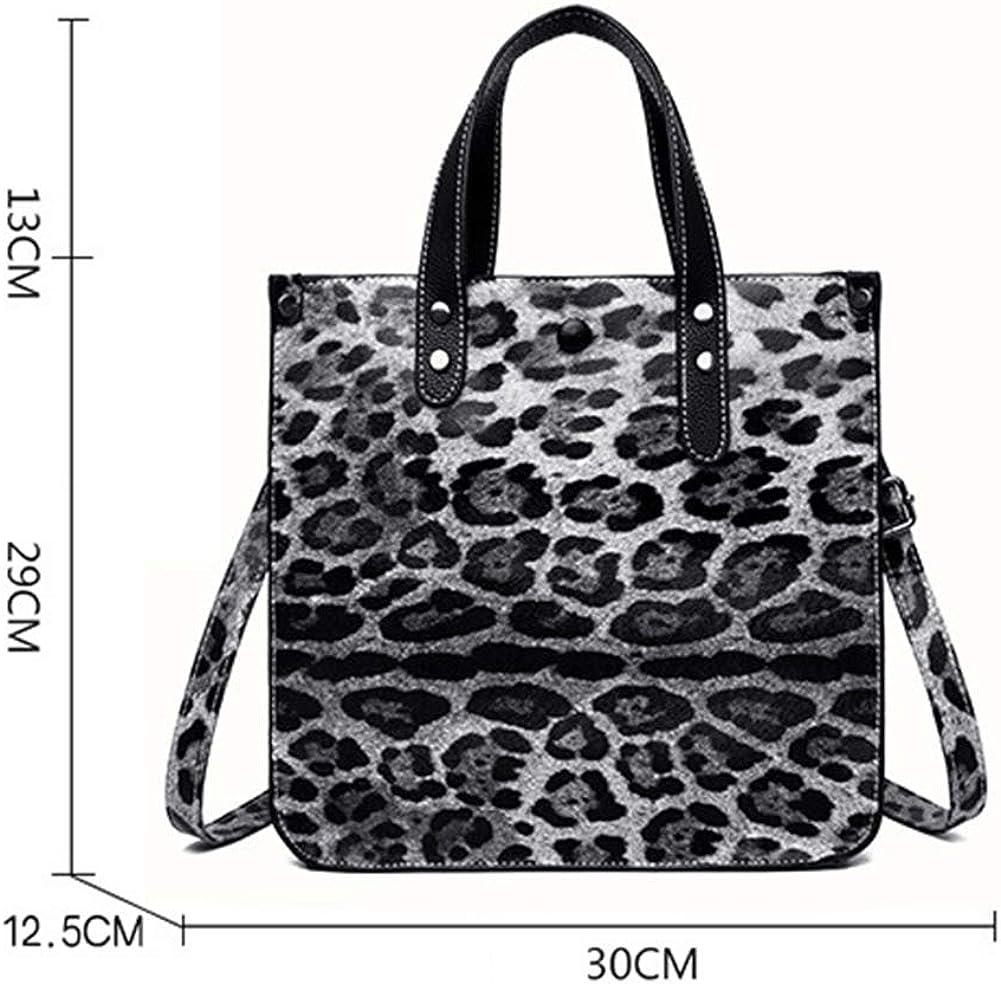 Borsa da donna Borsa con motivo leopardato Borsa a tracolla da donna in due pezzi moda europea e americana 1