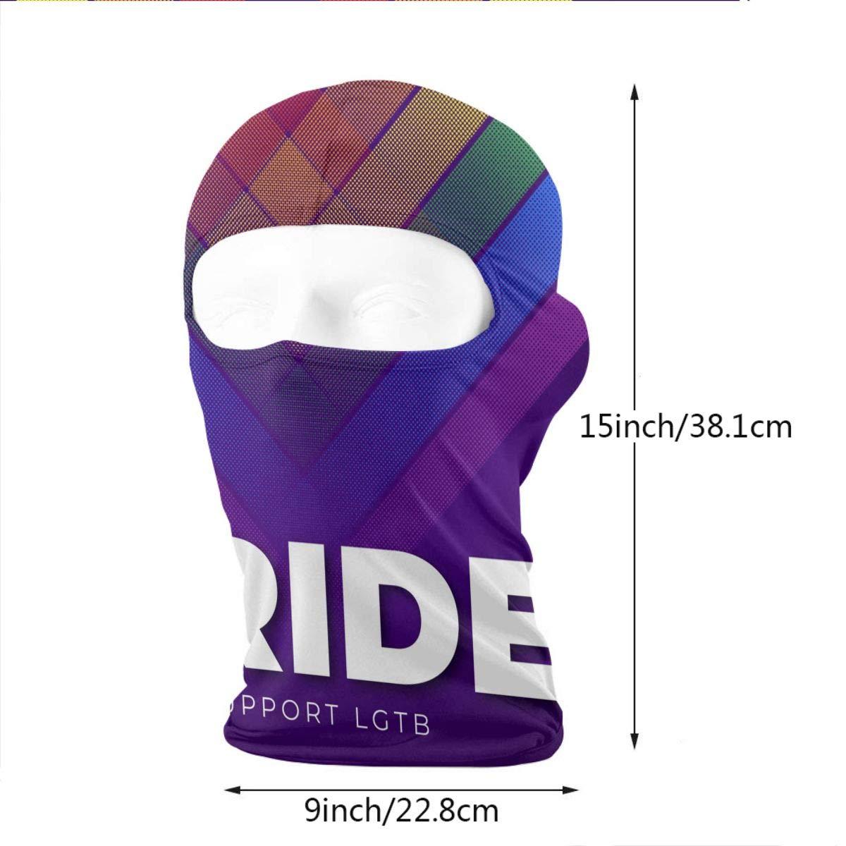 8 LaoJi LGBT Pride Day Winter Ski Mask Balaclava Hood Wind-Resistant Face Mask