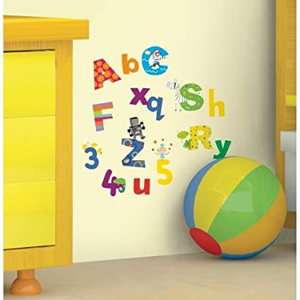 Amazon.com: New LAZOO ALPHABET & NUMBERS WALL DECALS ABC Letters ...