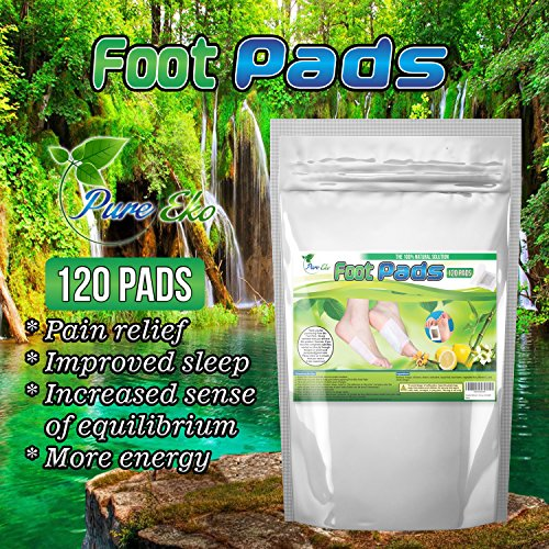 120 Foot Pads + 120 Sheets | For Foot Care, Pain Relief, Relaxation, General Well-being | 20% More | By Pure Eko ()