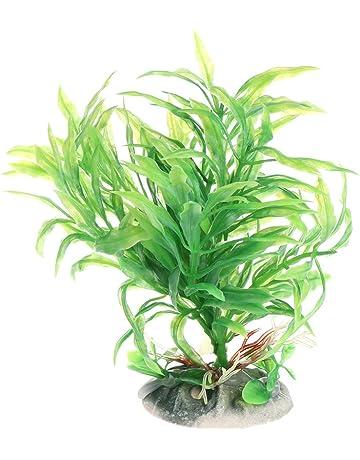 CADANIA Plantas acuáticas Plástico Verde Acuario Tanque de Peces Decoración de Primer Plano Vivo - 2T