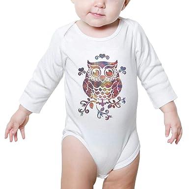 FanYe Unisex Baby Onesies Rainbow Boho Fox Head with Feather Long Sleeve Infant Bodysuit