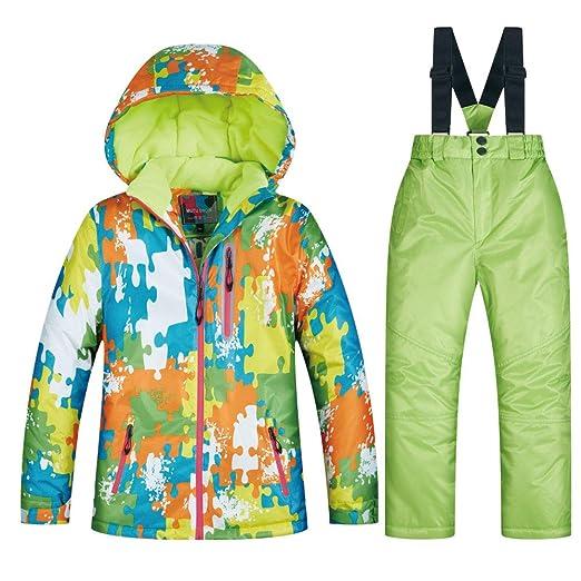 Ccsluo Niños Ski Set Traje, Chaqueta Caliente Snowboard a Prueba ...