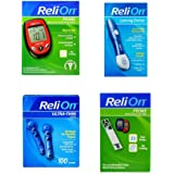 ReliOn Prime Blood Glucose Monitoring System | Relion Lancing Device | ReliOn 30G Ultra-Thin Lancets, 100-ct | ReliOn Prime B