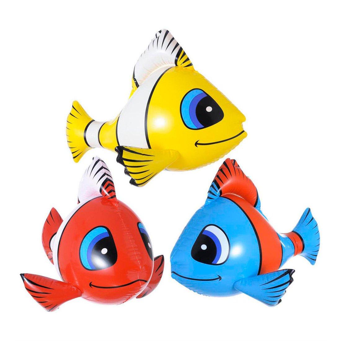 Riproduzione gonfiabile di pesce stile Nemo decorazioni gonfiabili per party in maschera 60cm