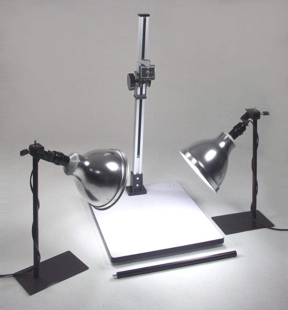 ALZO 100 Macro Table Top Studio - 2 lights - for photography of small objects from above such as jewelry & watches with continuous lights for a professional look - by alzodigital.com by ALZO Digital