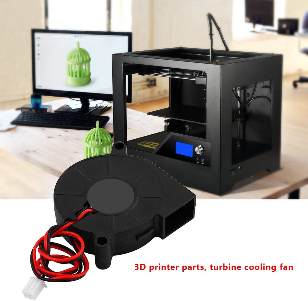 Fan 3D Printer DC 12//24V 5015mm Blow Radial Cooling Fan Turbofan Cooler Kit Accessories for 3D Printer High Rotation Speed Low Noise Heatsinks Fans 12V