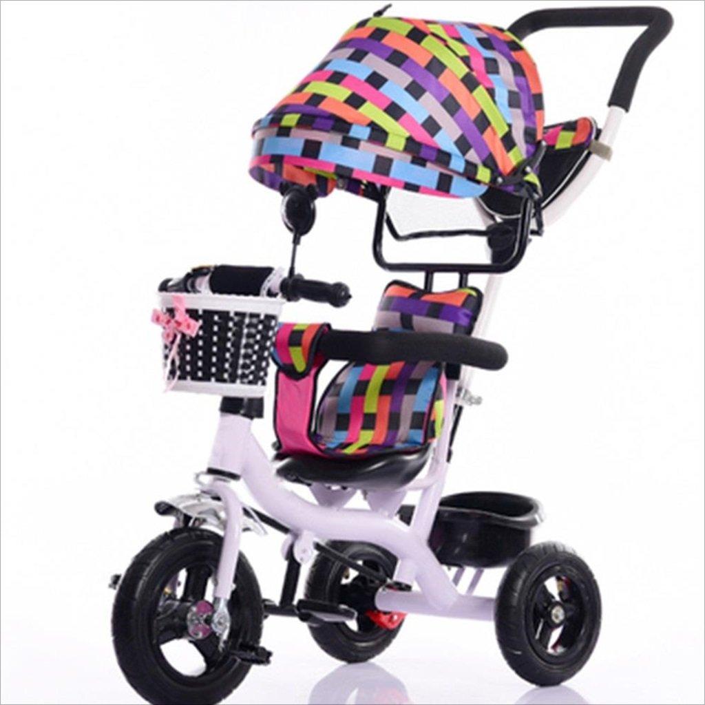 子供屋内屋外小型三輪車自転車の少年の自転車ガールズバイク7ヶ月-6歳の赤ちゃん三輪車トロリー、天幕、インフレータブルホイール/リアホイールダブルブレーキ (色 : 5) B07DVG8B97 5 5
