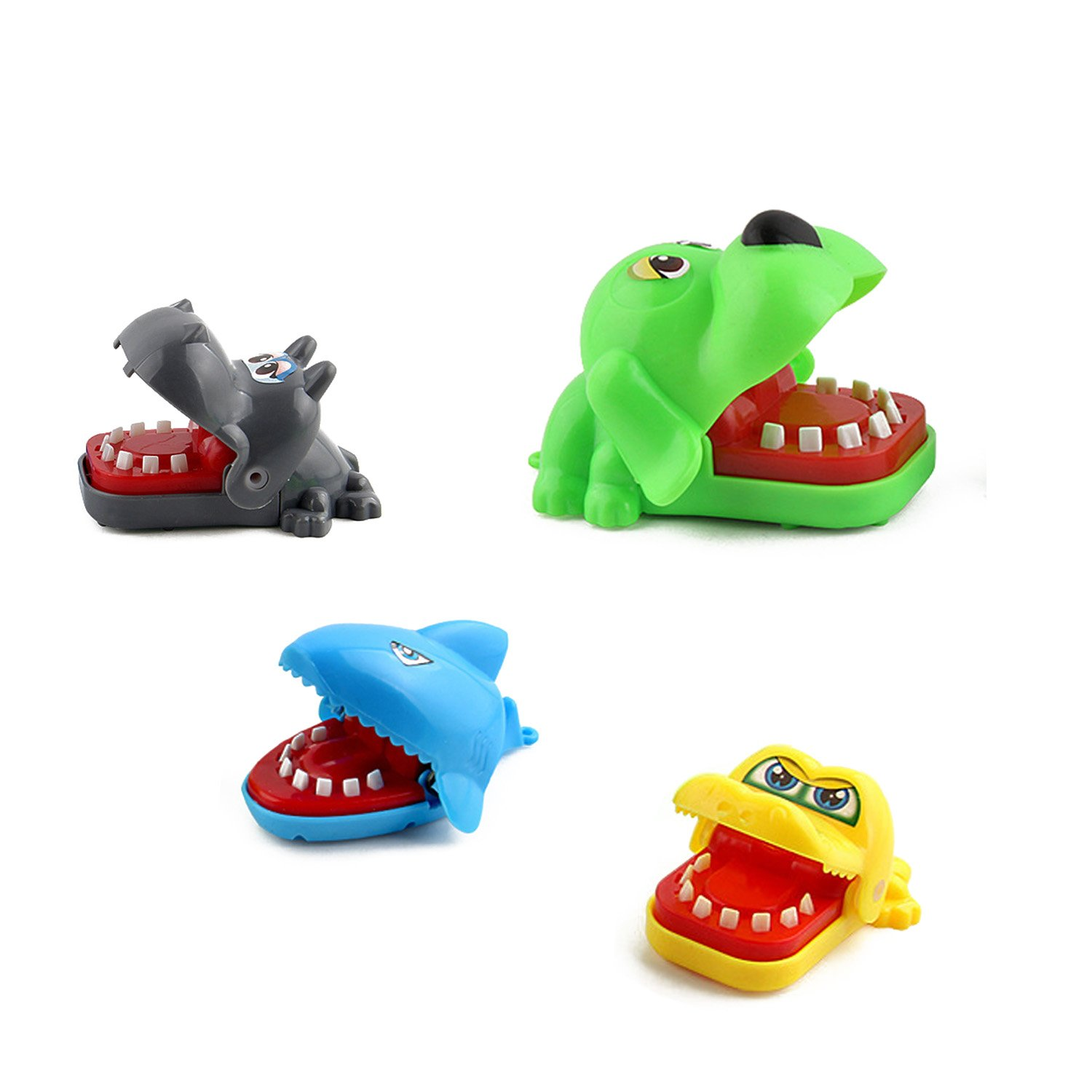 Toy Plastic New Cute Bath Kid Water Pool Baby Wind up Tub Diver Clockwork Animal (4pcs Biting Toy) kids bath toys