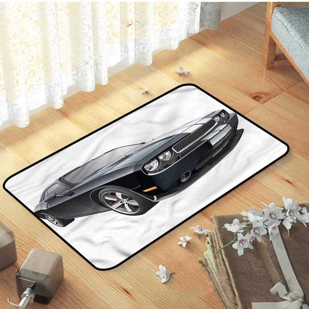 Amazon Com Cars Conference Room Carpet Black Modern Ride Design Floor Area Rug Versatility Warm And Cozy For Baby Nursery Decor W35 X L47 Garden Outdoor