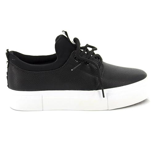 Scarpe Da Ginnastica Donna Sneakers Con Zeppa Basse Casual Nere k8rkQfTGNJ