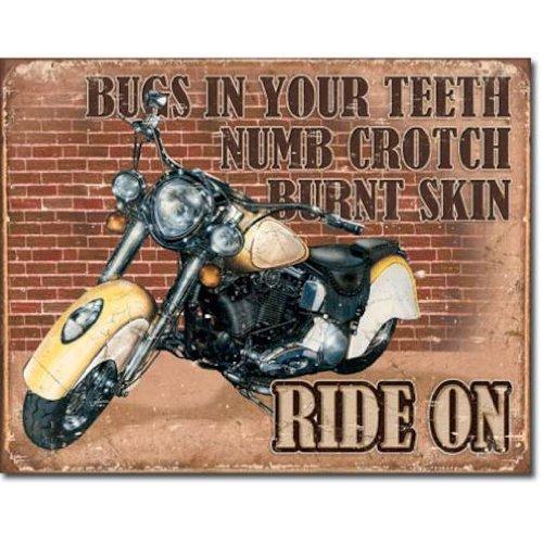 Ride On Tin Sign