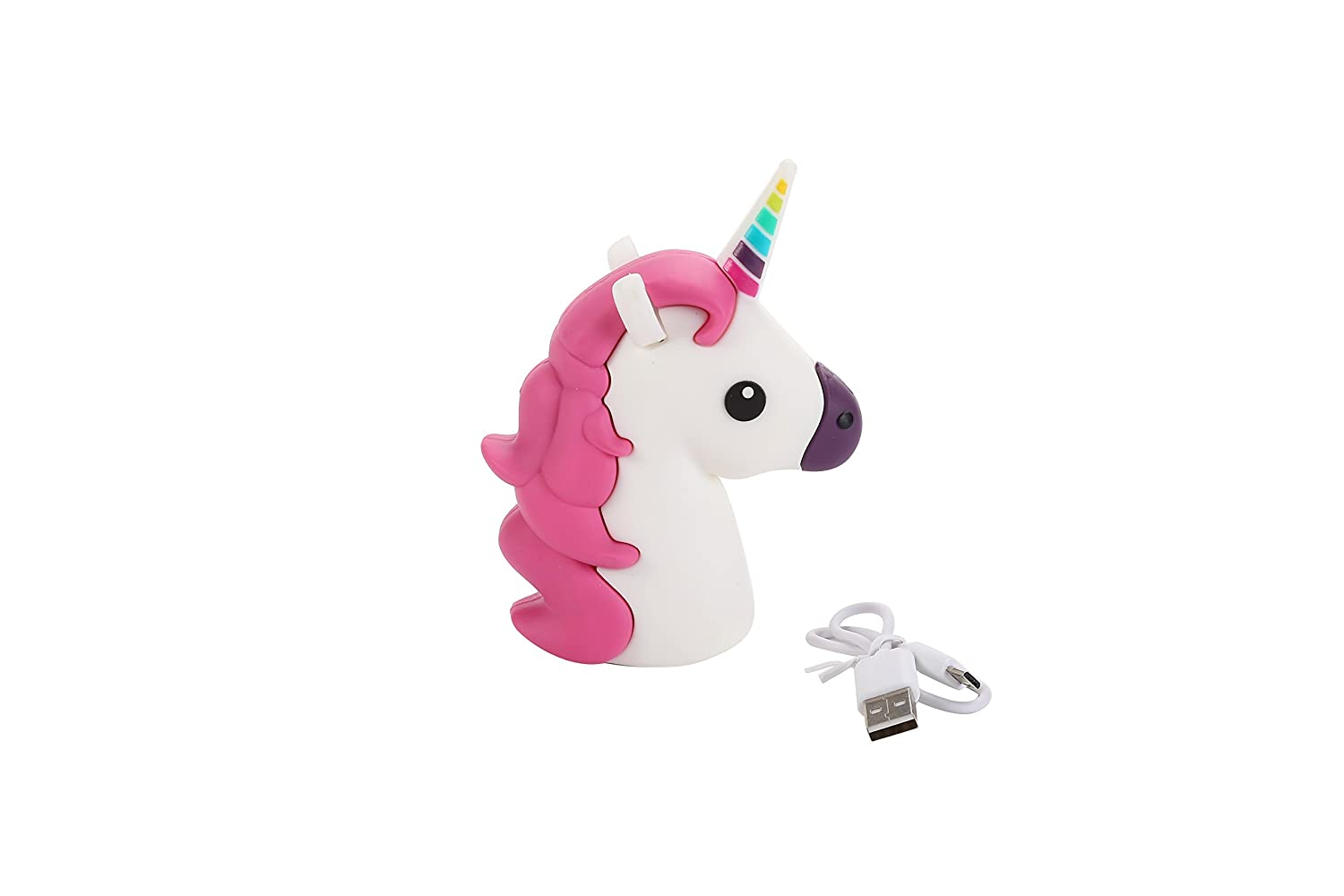 DISOK Power Bank Unicornio 1200 mha en Caja de Regalo con Cable Incluido - Regalos Originales Power Bank para Regalar Infantiles Originales. Recuerdos ...