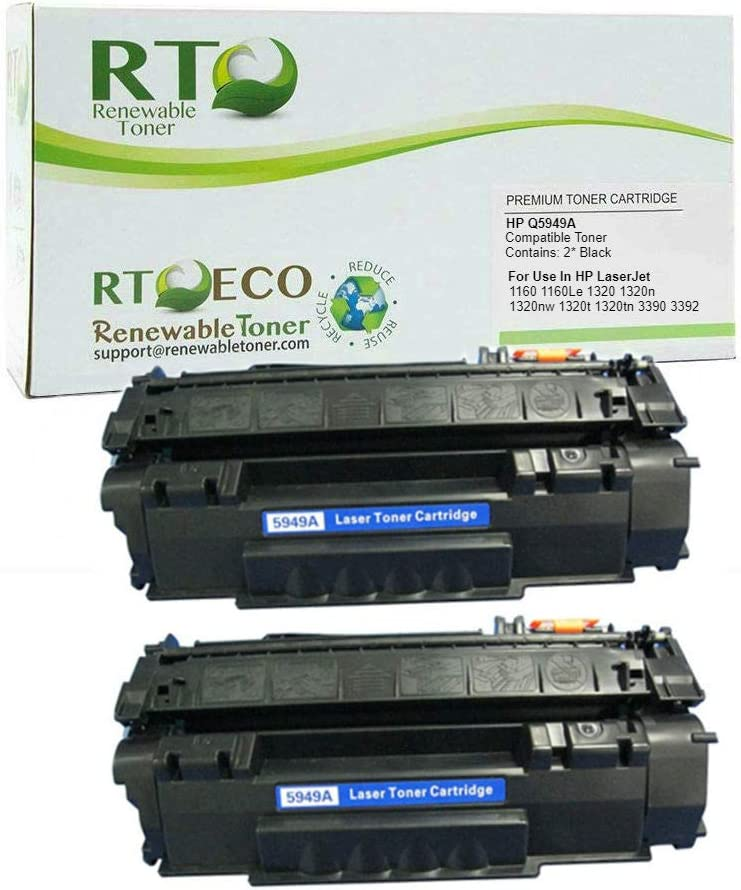 10 Pack Q5949A 49A Toner Cartridge Compatible For HP LaserJet 1320n 3392 Printer