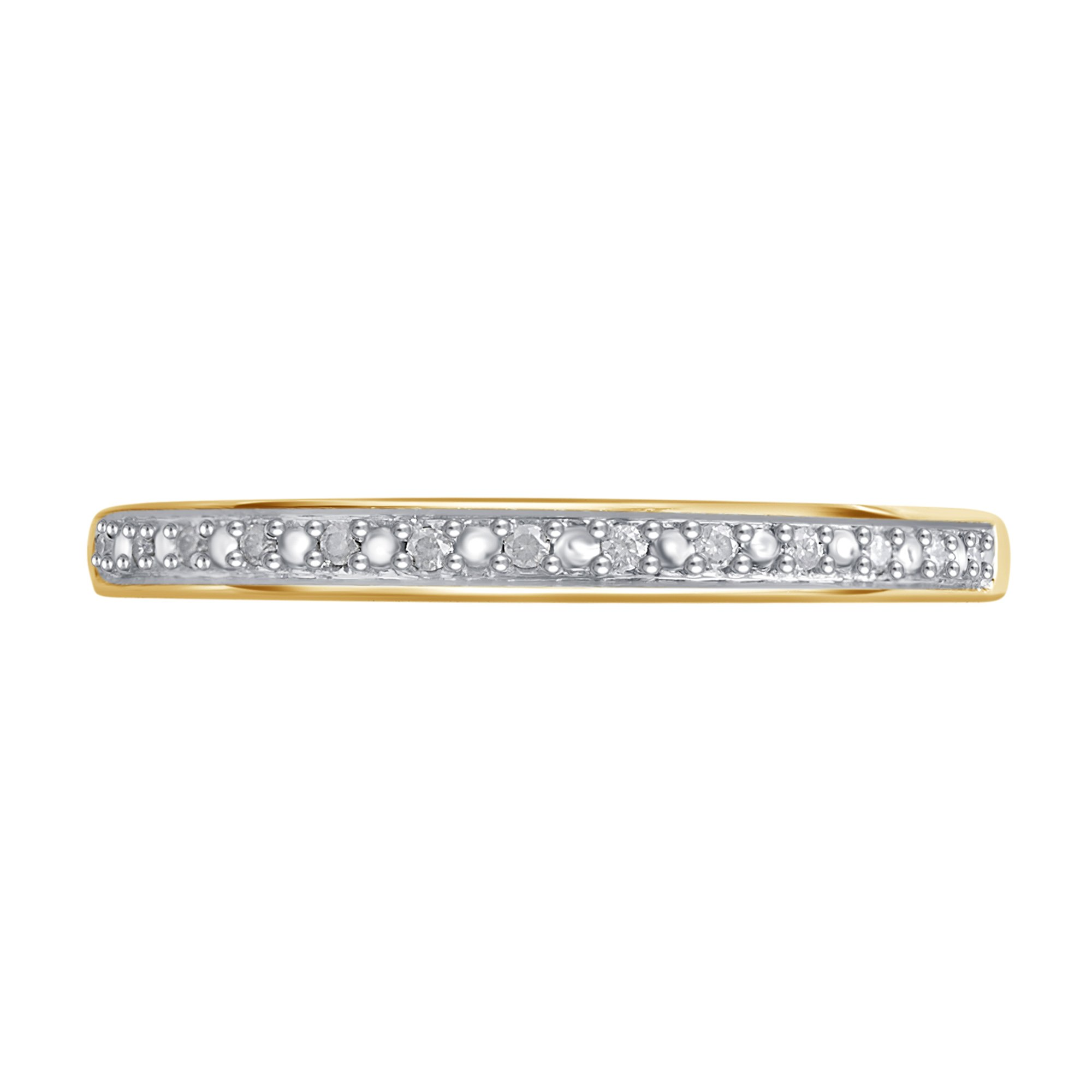 0.05 CTTW Round Diamond Wedding Band in 10K Yellow Gold by Brilliant Diamond (Image #2)