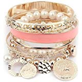 Sannysis 1 Sets Korean Fashion New Style Mädchen Exquisite Münzen-Perlen-Armband-Schmuckhohl