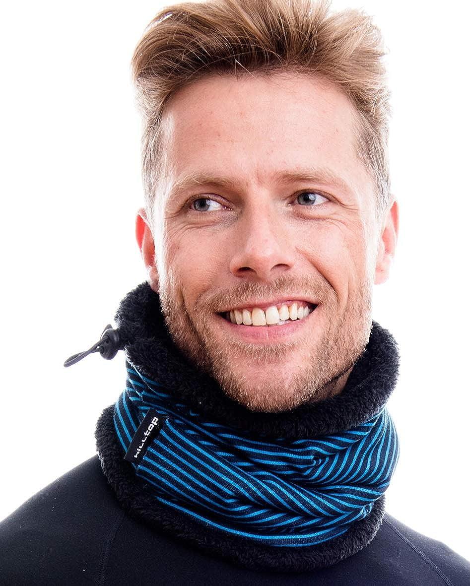 M/áscara de Motorista 100/% forro polar Hilltop Bufanda con Forro Polar Multiusos Cuello con Cordones Bandana para Proteger la Cara Braga de Cuello para Oto/ño e Invierno Bufanda de Tubo
