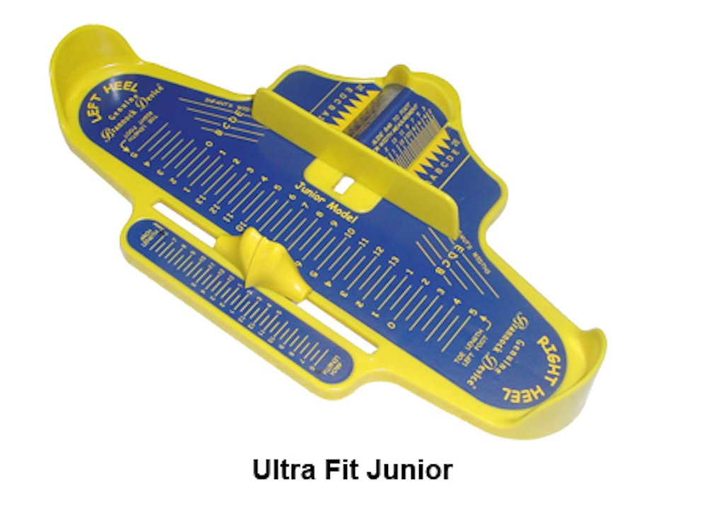 Kids measuring device - blue/yellow - US sizes