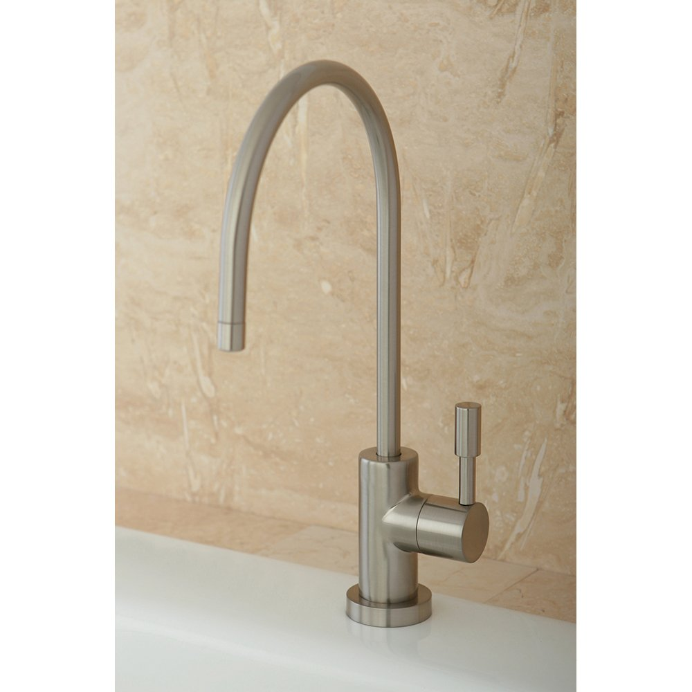 Kingston Brass Gourmetier KS8198DL Concord 1 4 Turn Forged Water Filter  Faucet Satin Nickel Kitchen Sink Faucets Amazon com