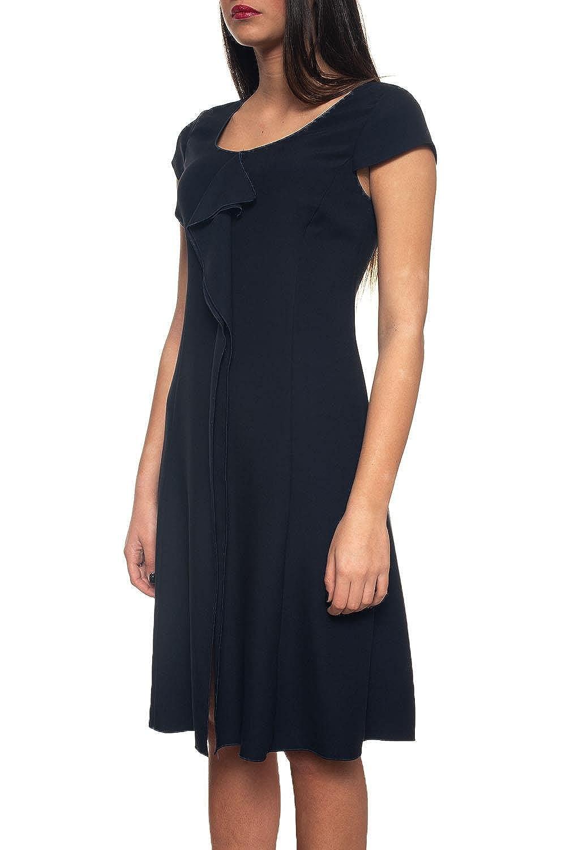 2f51d738ee9b0e Emporio Armani Women's Dress Blue Blue: Amazon.co.uk: Clothing