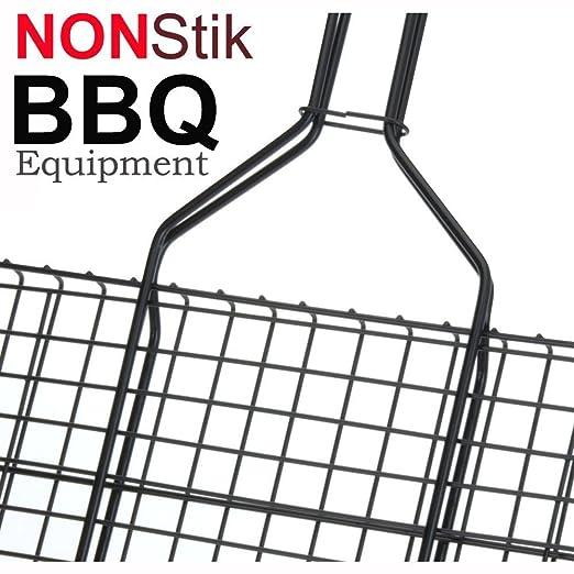 """3 opinioni per BBQ Equipment Griglia Doppia """"Sicura"""" (35 x 26 cm) con Manico Legno-"""