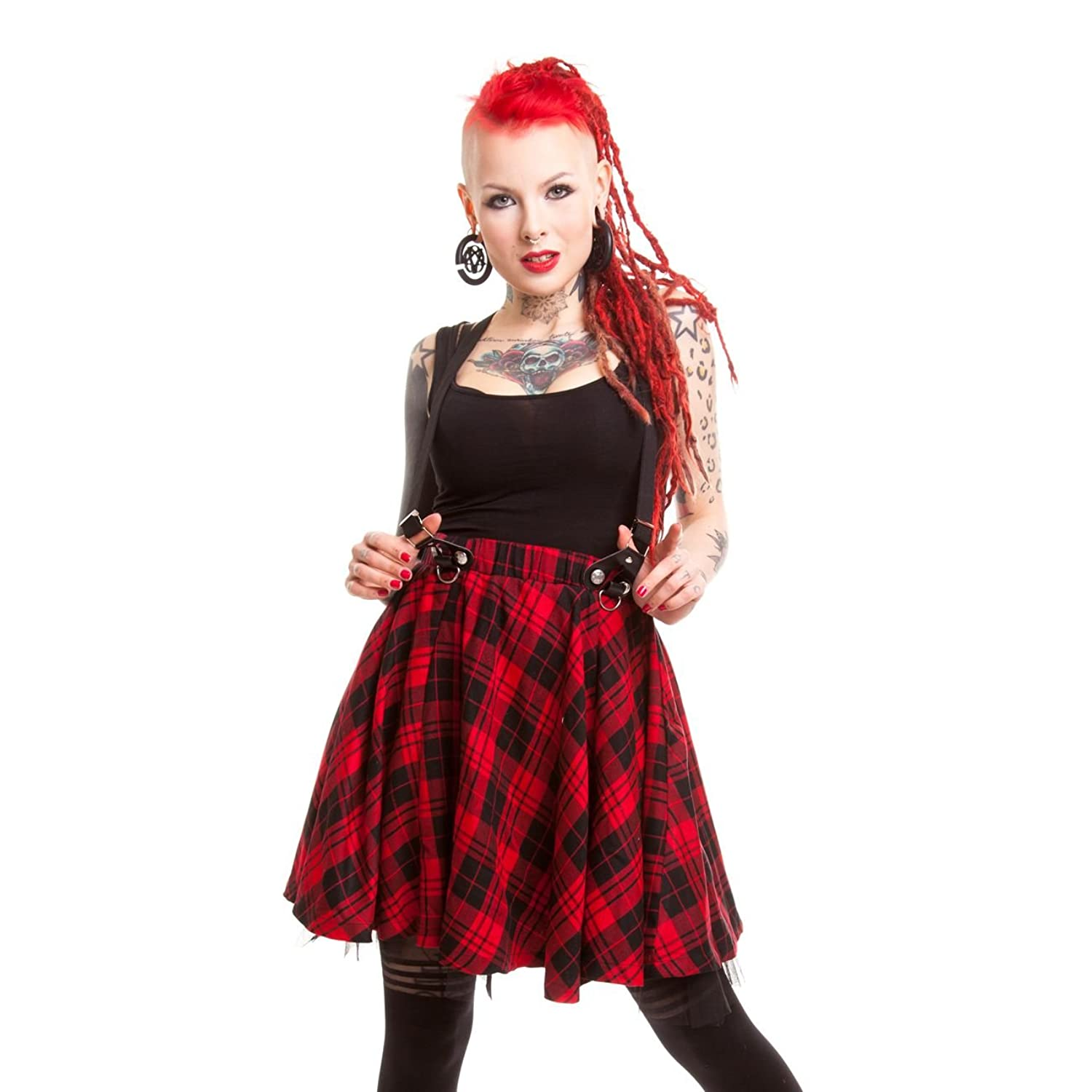 Heartless Lucille Skirt Ladies Red Check