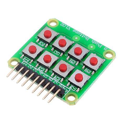 ILS - Micro Interruptor 2x4 Matriz Teclado 8 bit Teclado ...