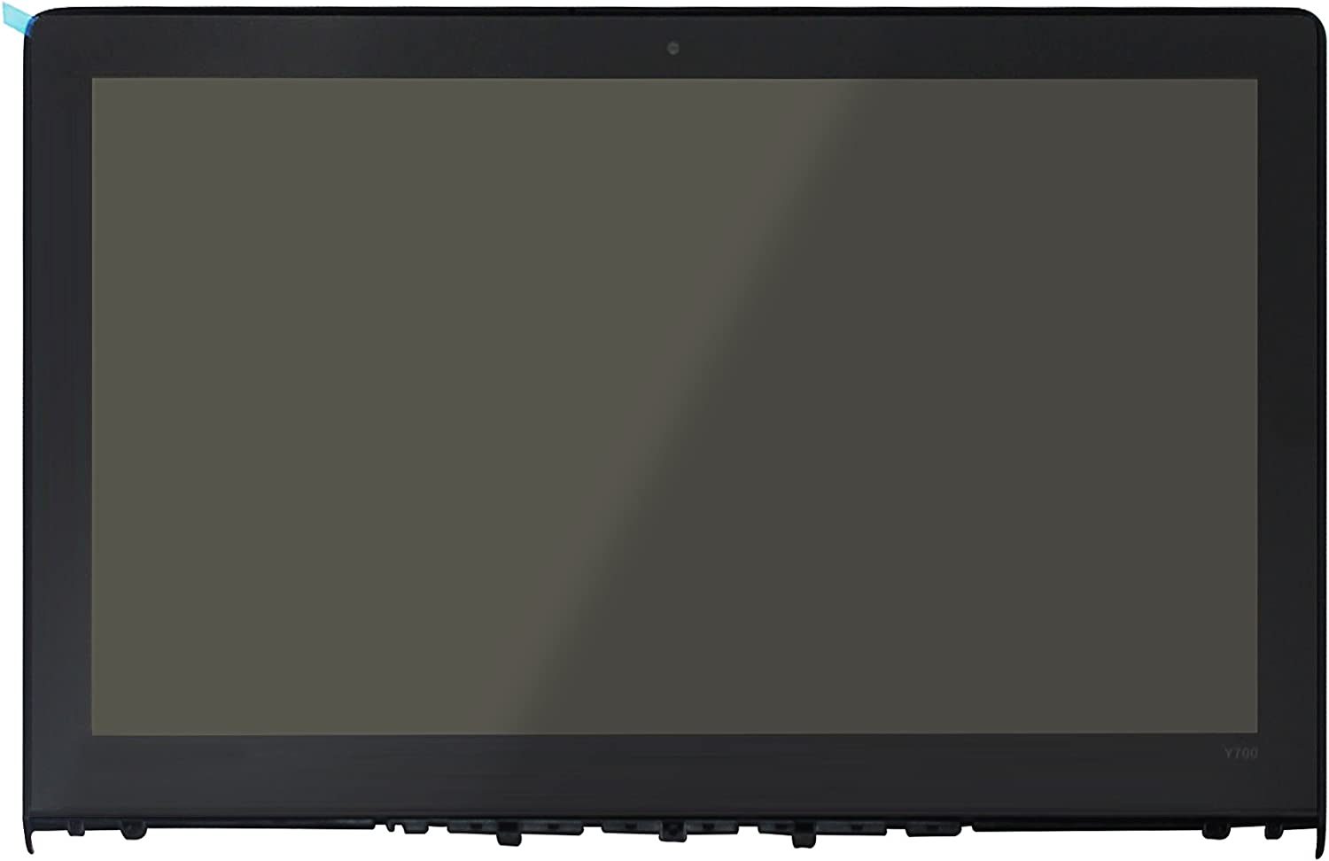 LCDOLED Replacement 15.6 inches FullHD 1080P IPS LED LCD Screen Front Glass Assembly with Bezel for Lenovo Ideapad Y700-15ISK 80NV Non-Touch (1920x1080 Resolution)