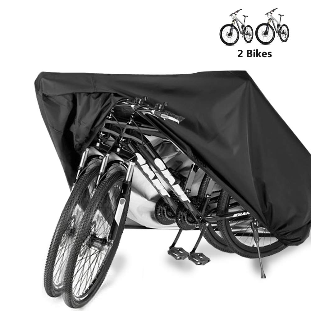 Bike Bicycle Cover Waterproof Outdoor Motorcycle Covers XL XXL for 2/3 Bikes Dust Rain Wind Snow Proof Lock Hole for Mountain Road Electric Bike