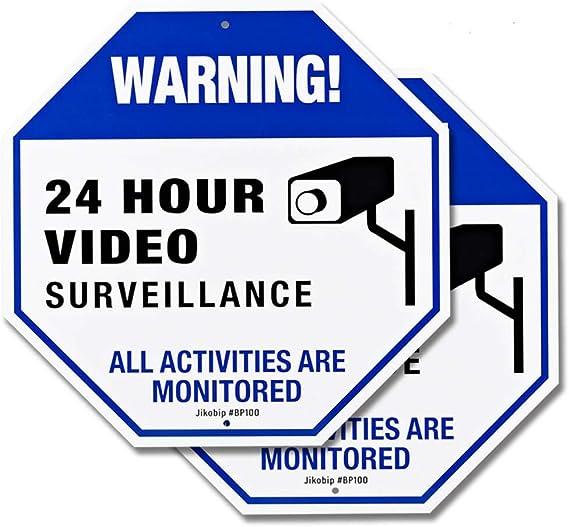 Amazon.com: Cartel de seguridad para cámara de vigilancia de ...