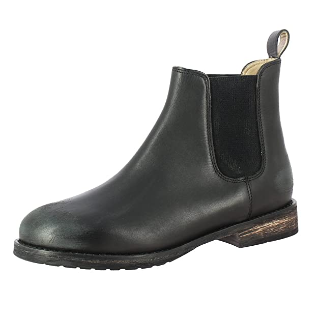 Saint G Black Leather Ankle Boots for Womens (38) Women's Shoes at amazon